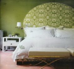 Luck of the Irish at the Head of the Bed: Green Headboards