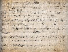 Antique Fancy Mozart Music Distressed Overlay Illustration Digital Download for Papercrafts, Transfer, Pillows, etc Burlap No. 2763. $1.00, via Etsy.