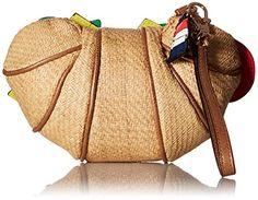 Wristlets Betsey Johnson Croissandwich Wrislet, Tan - Boutique Page Cute Gym Bag, Betsey Johnson Handbags, Novelty Bags, Tan Handbags, Clutch Bag, Bucket Bag, Purses And Bags, Reusable Tote Bags, Gifts