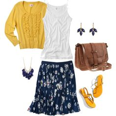 Spring...love yellow and navy.