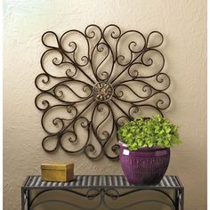 Scrollwork Wall Decor . Impressive iron decor.