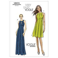 Mccall Pattern V8574 Ee (14-16--Vogue Pattern