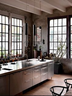 ,Love the windows / the natural light one needs in a kitchen...birds singing outside the window...children's laughter...