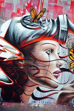 amazing mural by ArtByDestroy #streetart #mural