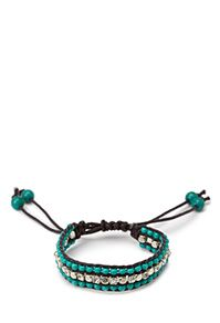 Browse charm bracelets, cuffs and bead bracelets galore | Forever 21 Daring Darling Cord Bracelet $4.80