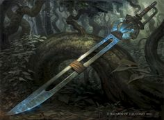 MtG Art: Hedron Blade from Battle for Zendikar Set by Zack Stella - Art of Magic: the Gathering Fantasy Sword, Fantasy Weapons, Fantasy Rpg, Fantasy Artwork, Magic The Gathering, Guerra Anime, Magia Elemental, Armas Ninja, Mtg Art