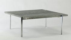 Poul Kjærholm. Sofabord model PK-61, E. Kold Christensen, Cipollini marmor