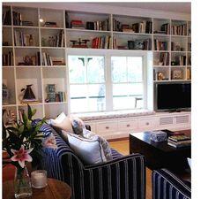 window seat - bookcase surround