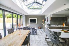 Amazing and Unique Tips and Tricks: Curved Roofing Tiles roofing ideas outdoor.Shed Roofing Design concrete roofing deck. Orangery Extension Kitchen, Orangerie Extension, Kitchen Orangery, Orangery Roof, Conservatory Kitchen, Kitchen Diner Extension, Conservatory Ideas, Orangery Conservatory, Conservatory Extension