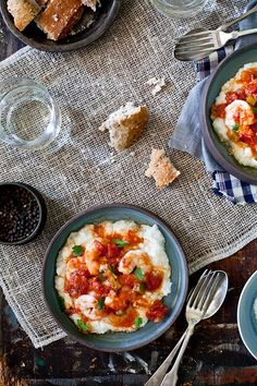 Shrimp And Grits | More foodie lusciousness here: http://mylusciouslife.com/photo-galleries/wining-dining-entertaining-and-celebrating/