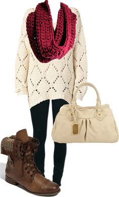 I hate combat boots but UGGs would look really cute and another bag that doesn't blend in so much- brown or grey bag