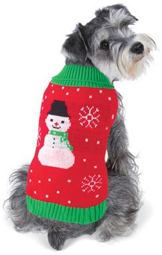 Festive Snowman Holiday Dog Sweater