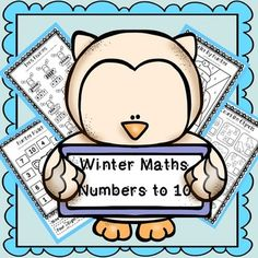Free Winter Math, Numbers to 10 A fantastic resource containing worksheets to help you order numbers and recognise numbers to 10!