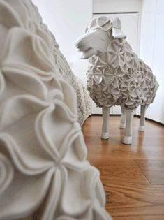 """Who wouldn't want to stay in the """"Clouds"""" room at the Maison Moschino in Milan, complete with cotton sheep?!?"""