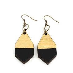 Sustainable leather bags brand from Helsinki. Wooden Jewelry, Handmade Wooden, Bag Making, Leather Bag, Jewelry Making, Drop Earrings, Accessories, Black, Black People
