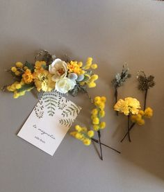 春の庭から〜: 白いオープンローズとミモザのヘッドドレス | ハンドメイドマーケット minne