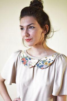 overlap floral collar