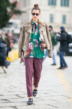 Streetstyle look spotted on the Milan Fashion Week.