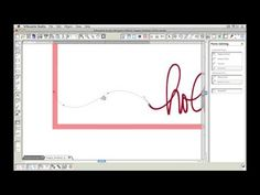 This video tutorial shows you how you can add a hand drawn line and frame to a handwritten word in Silhouette Studio.