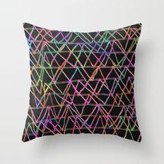 ZigZags Throw Pillow by Georgiana Paraschiv | Society6