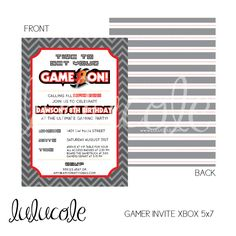 GAME TRUCK Gamer Personalized Birthday Party Invitation XBOX - Printable by lulucole on Etsy