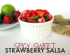 Sweet strawberries, zesty jalepenos, and juicy lime combine to make a salsa that is perfect for topping your favorite protein and dipping your favorite dippers!