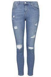 PETITE MOTO Bleach Authentic Ripped Skinny Jeans