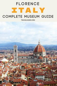A list of must see museums in Florence, Italy, a city renowned for its culture, art and history. From the Uffizi Gallery to the Bargello Museum, this cultural guide to Florence covers major museums that you won't want to miss when visiting this beautiful city. Travel in Europe. | Travel Dudes Travel Community #Florence #Italy