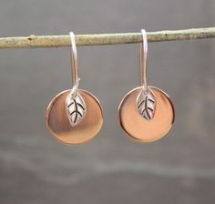 Bodhi Leaf with Copper Moon Earrings Bodhi Leaf, Bodhi Tree, Moon Earrings, Copper Earrings, Moon Design, Finding Peace, Types Of Fashion Styles, Jewelry Accessories, Jewels