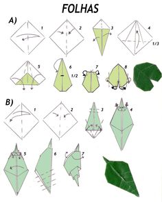 LEAVES Paper Folding Crafts, Origami Paper Folding, Origami And Kirigami, Modular Origami, Paper Crafts Origami, Origami Easy, Origami Instructions, Origami Tutorial, Fabric Flowers