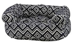 Bowsers Azure Microvelvet Double Donut Dog Bed