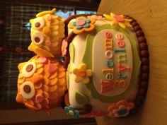 Brynlee's Owl Baby Shower Cake