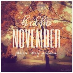 Hello November, Please Stay Golden November Hello November November Quotes