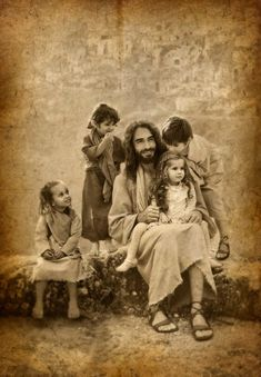 JESUS and the CHILDREN - famous paintings