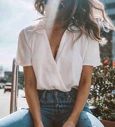 Shop UO Natural Surplice Cropped Top at Urban Outfitters today. We carry all the latest styles, colors and brands for you to choose from right here. Mode Outfits, Casual Outfits, Fashion Outfits, Urban Chic Outfits, Cheap Fashion, Ladies Fashion, Fashion Ideas, Womens Fashion, Fashion Tips