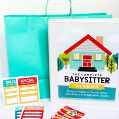 Our babysitter activities for kids set provides everything you need to communicate with your babysitter, PLUS activities for the kids while you are out!