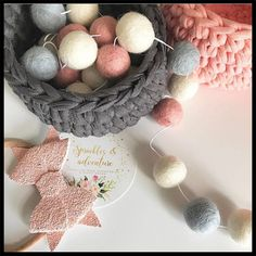 Nordic Party Supplies Decoration Handmade Wool Ball For Baby Bed Kids Room Tent Hanging Wall Decorations Gift Photography props