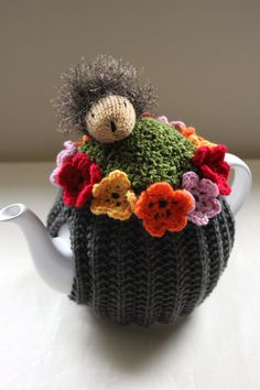 Hedgehog Picnicking in the Garden Tea Cosy by Tafferty Designs
