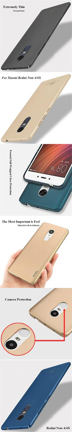 Frosted Back Cover Case for Xiaomi Redmi Note 4X Fundas for Red Rice Note 4X  PC Cas for Hongmi Note 4X 5.5 Inch Tempered Glass
