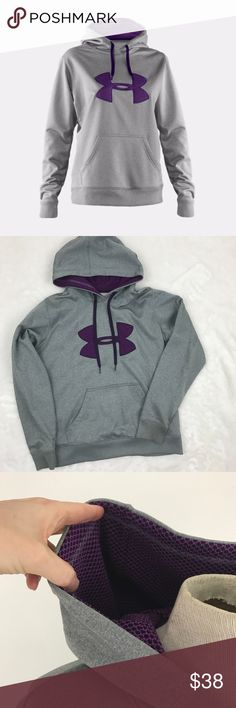Under Armour Fleece Storm Intensity Hoodie Semi Fitted: Semi Fitted Armour® Fleece fabric finished with UA Storm technology to repel water Fully lined with UA Intensity fabric for unrivaled warmth and comfort Lightweight stretch construction improves mobility for full range of motion Two-piece hood with UA Intensity lining traps heat for extreme warmth Princess seams create a slimmer, more streamlined silhouette Exaggerated ribbed cuffs and hem  Great preloved condition with no defects. Size…