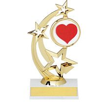 """8 1/2"""" Holographic Spinning Star Trophy Star Trophy, Award Plaques, Star"""