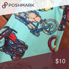 LuLaRoe OS Motorcycle Leggings OS LLR motorcycle leggings.   Mint color.  Worn a few times.  Washed inside out and hung to dry. LuLaRoe Pants Leggings