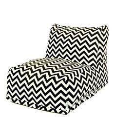 Take a look at this Black Zigzag Indoor/Outdoor Beanbag Lounger by Majestic Home Goods on #zulily today!