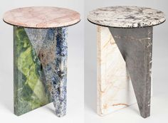 Modern Memphis Design Trend stands for irreverence, experimentation, nonconformism, total rule-breaking and a freedom that drives progress & innovation. Memphis Design, Marble Furniture, Furniture Design, Coffee And End Tables, Side Tables, Marble Art, Design Trends, Petra, Granite Table