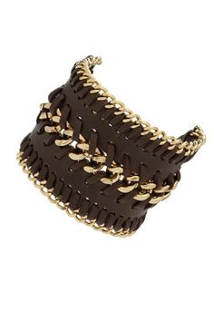 chain and leather bracelet $35 @ topshop  I just got this! Perfect accessory for just jeans and tee