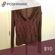 Brown Cable-Knit Button-Up Cardigan Brown Color ▪ Cable-Knit ▪ Button-Up Cardigan ▪ Good Used Condition Sweaters Cardigans