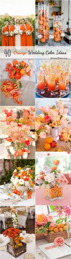fall orange wedding color ideas / http://www.deerpearlflowers.com/orange-wedding-color-ideas/