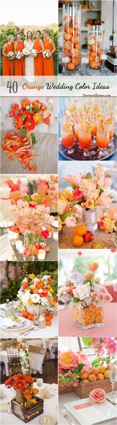 fall orange wedding color ideas / http://www.deerpearlflowers.com/orange-wedding-color-ideas/