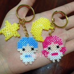 Little Twin Stars Sanrio keyrings perler beads by imbpixel