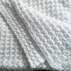 This easy stitch is perfect for an afghan or blanket. It is just sets of 3 stitches, one single crochet and two doubles. Once you get into the hang of it, you can do it in your sleep! Use it for a baby blanket in a pretty pink or blue or for a regular afghan with bright colors! You can change colors after a few rows for a multicolored effect.